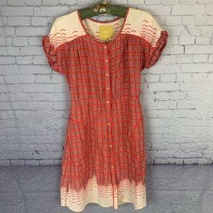 Maeve Anthropologie Cap Sleeve Dress Small